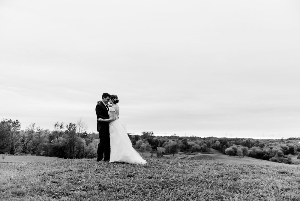 Elm Creek Chalet Wedding - Bride and Groom - MN Wedding Venue