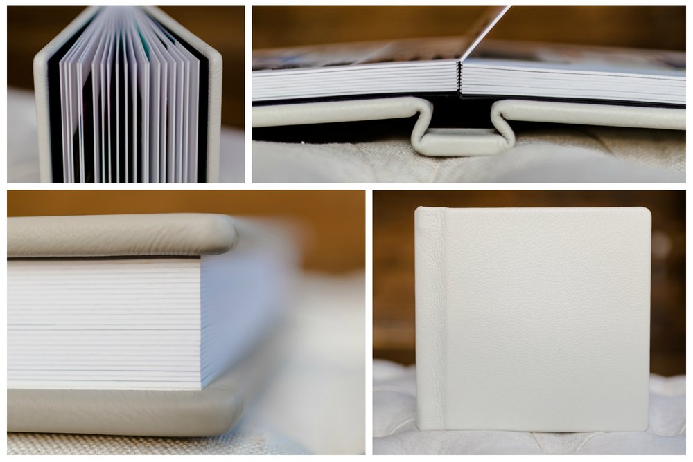 (As shown: 8x8 Luxe Heirloom Album in Baby Elephant)
