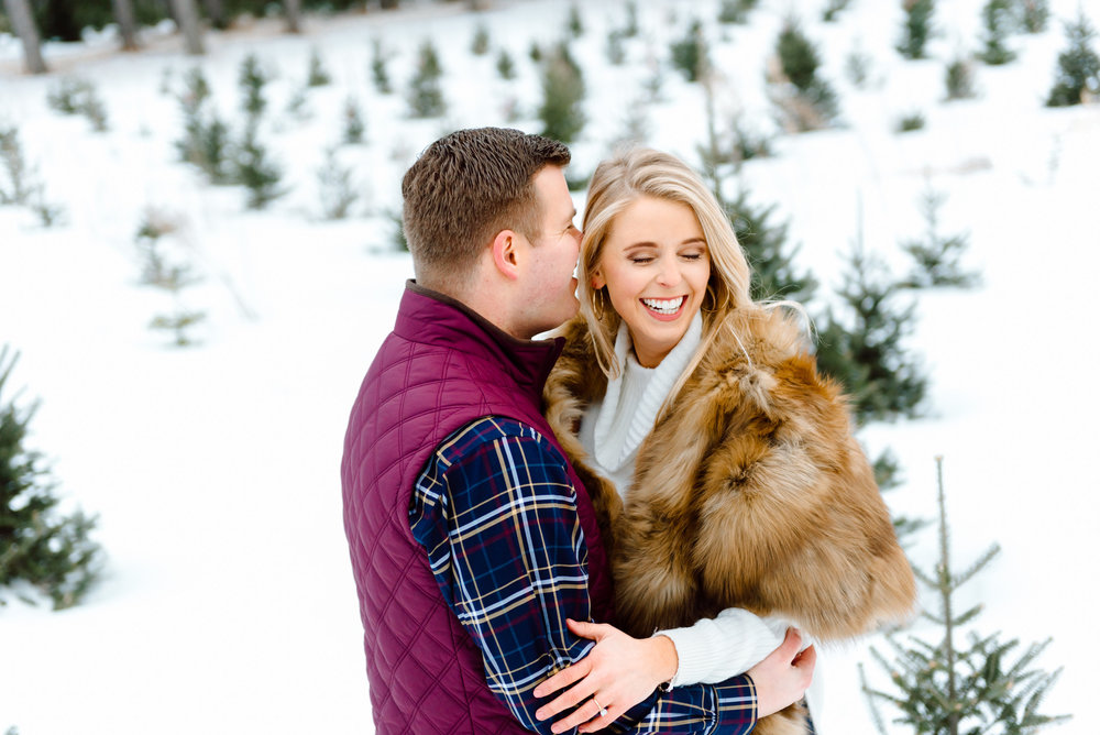 Justin and Mandy - Winter Engagement at Hansen Tree Farm Color-52.jpg