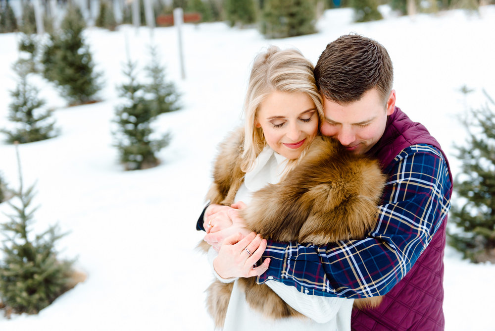 Justin and Mandy - Winter Engagement at Hansen Tree Farm Color-58.jpg