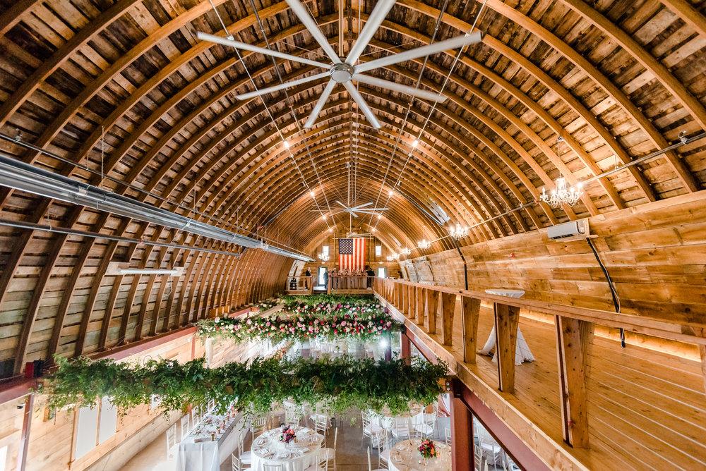 Barn Wedding Venue MN - Historic John P. Furber Farm Wedding - Barn Interior - Best Wedding Photographers in MN