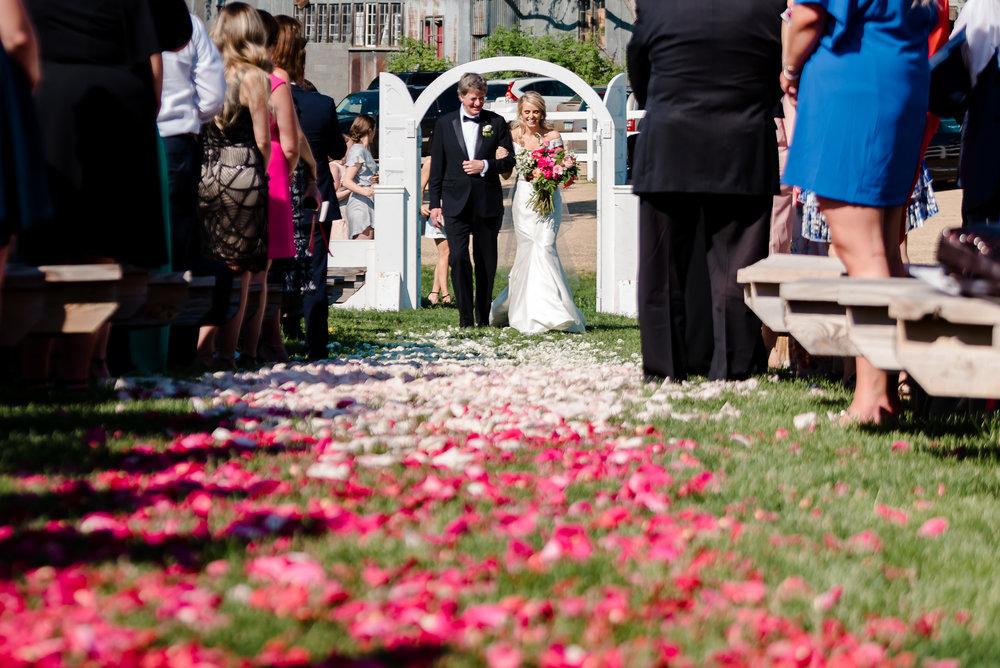 Outdoor Wedding Ceremony Site at Historic John P. Furber Farm Wedding Venue - Top Wedding Barn Venues in MN - Laura Robinson Photography