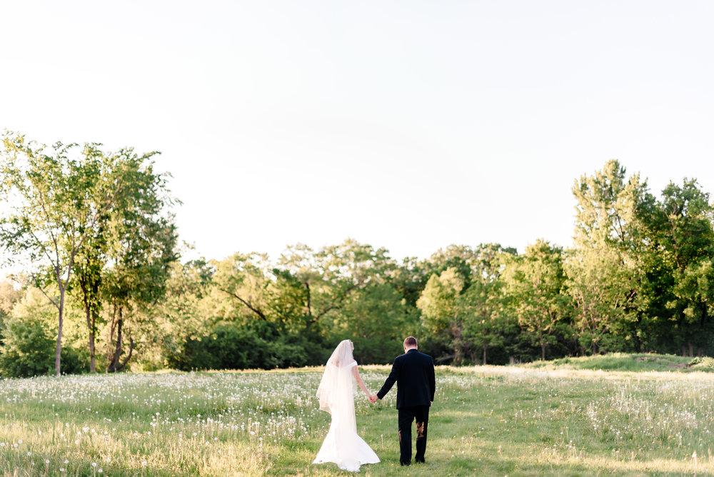 Romantic Sunset Wedding Photos in MN - Historic John P Furber Farm Wedding - Luxury Wedding Photographer MN