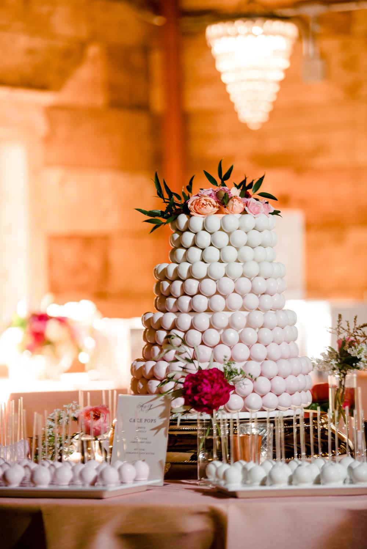 Ombre Cake Pop Cake by Farina Bakery at Historic John P Furber Farm Wedding - Top Wedding Trends 2019 - MN Wedding Photographer