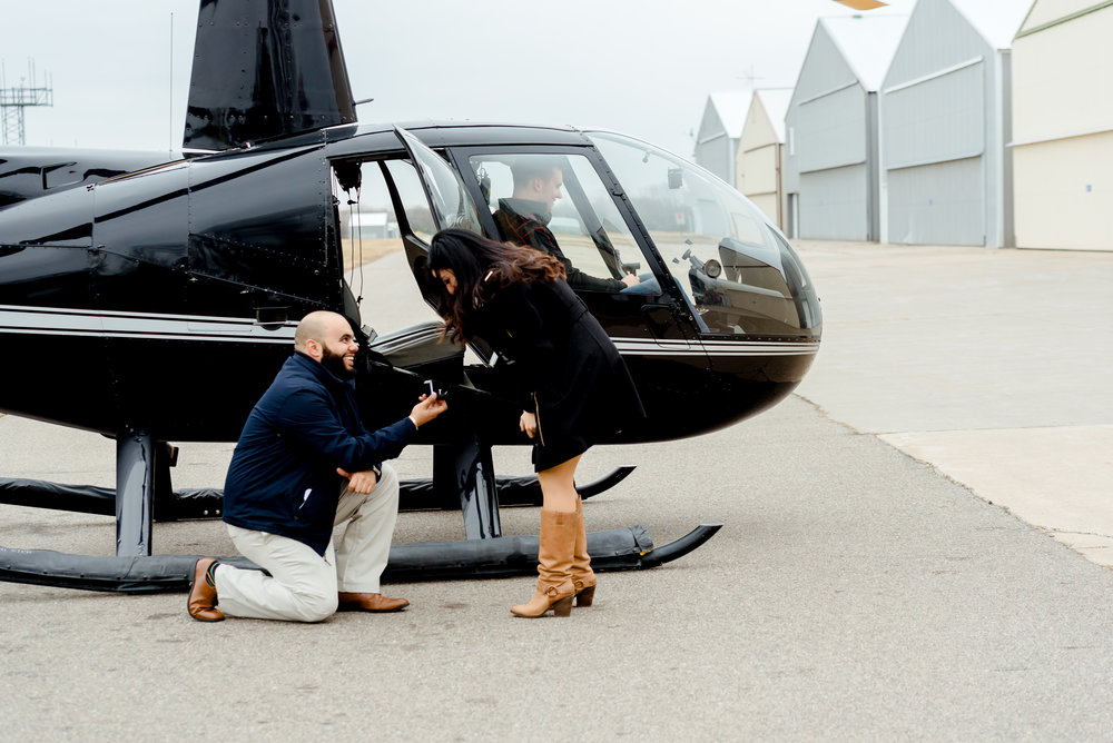 Unique Proposal Ideas - Helicopter Proposal - MN Proposal Photographer
