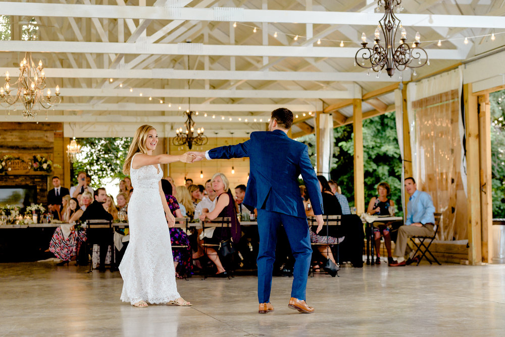 First Dance at Legacy Hill Farm - Best Wedding Photographers in MN