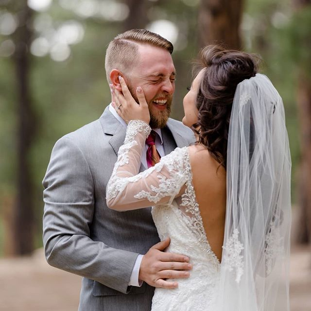 The happiest tears I've ever seen... 😭😍 ⠀⠀⠀⠀⠀⠀⠀⠀⠀ There are no such thing as ugly tears on a wedding day, my friends.  All happy tears are beautiful! ⠀⠀⠀⠀⠀⠀⠀⠀⠀ When Trevor saw his bride, Kaitlyn, coming toward him in this beautiful open space in the woods, it was if time stood still.  The clouds had rolled in and rain was looming, but he stood there, steadfast, waiting for his bride. ⠀⠀⠀⠀⠀⠀⠀⠀⠀ When Kaitlyn called out to him, he turned around to see her and it was almost as if the wind was knocked out of his lungs...as if he was unable to breathe as she walked toward him with open arms. ⠀⠀⠀⠀⠀⠀⠀⠀⠀ Their love for one another was evident from the very first moment I saw them together and the emotions on their wedding day were open, real, and so full of love. ⠀⠀⠀⠀⠀⠀⠀⠀⠀ Don't hold back, my friends.  Let those tears fall when words fail. ♡ ⠀⠀⠀⠀⠀⠀⠀⠀⠀ #moments #coloradoweddings #laforet #coloradospringswedding #destinationweddingphotographer #rockymountainbride #junebugweddings #coloradoweddingphotographer #denverweddingphotographer #laforetweddings #wpja #realwedding #fearlesslyauthentic #inglishall  #mnweddingphotographer #fearlessphotographers #weddingphotography #coloradospringsweddingphotographer  #firstlook #groom #ispwp #emotionalweddingphotos