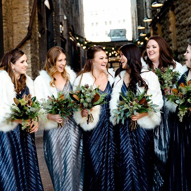 I need more sequins in my life.  YES PLEASE!! Olivia's fab bridesmaids with fashion ON POINT! ⠀⠀⠀⠀⠀⠀⠀⠀⠀ Venue: @hewinghotel Floral: @bellagala  Gowns: @weddingtonway  Hair + Makeup: @Priscillabruce + @liannarosecolestock ⠀⠀⠀⠀⠀⠀⠀⠀⠀ #bridesmaids #winterwedding #sequindresses #weddingbouquets #floraldesign #weddingphotos #minnesotawedding #weddinginspo #destinationwedding #mnweddingphotographer #mnbride #ndmnbride #msgmagweddings #minneapolisweddingphotographer #weddingstyle #instawed #huffpoido #marthastewartweddings