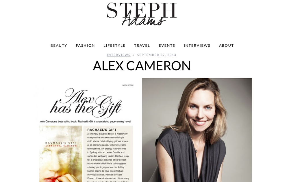 Interview by the lovely  Steph Adams 27 September, 2014