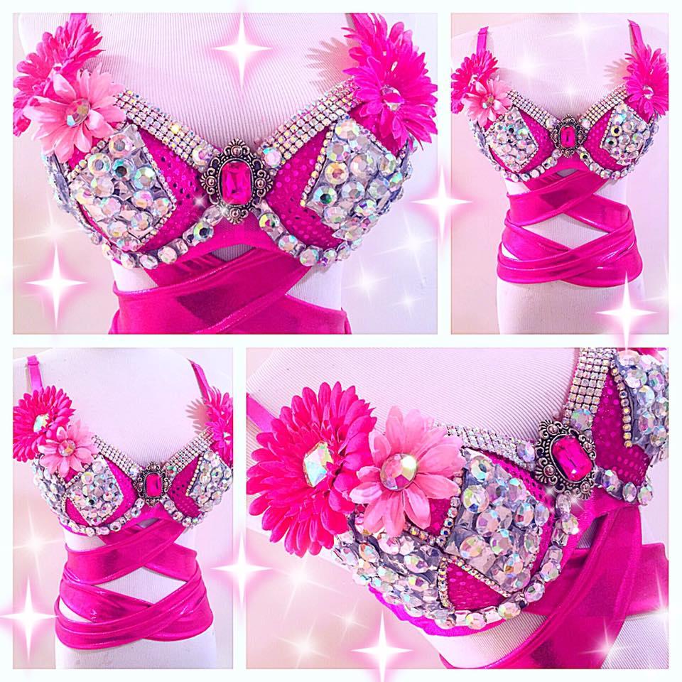 Pink Power Ranger Rave Bra