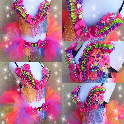 Candy Queen Plunge Bra and Half Tutu
