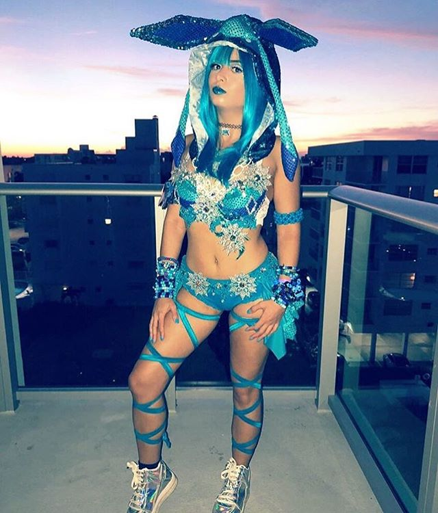 @gabriella_braude slaying Halloween in her @electriclaundry Glaceon outfit!!! LOVE ❄️