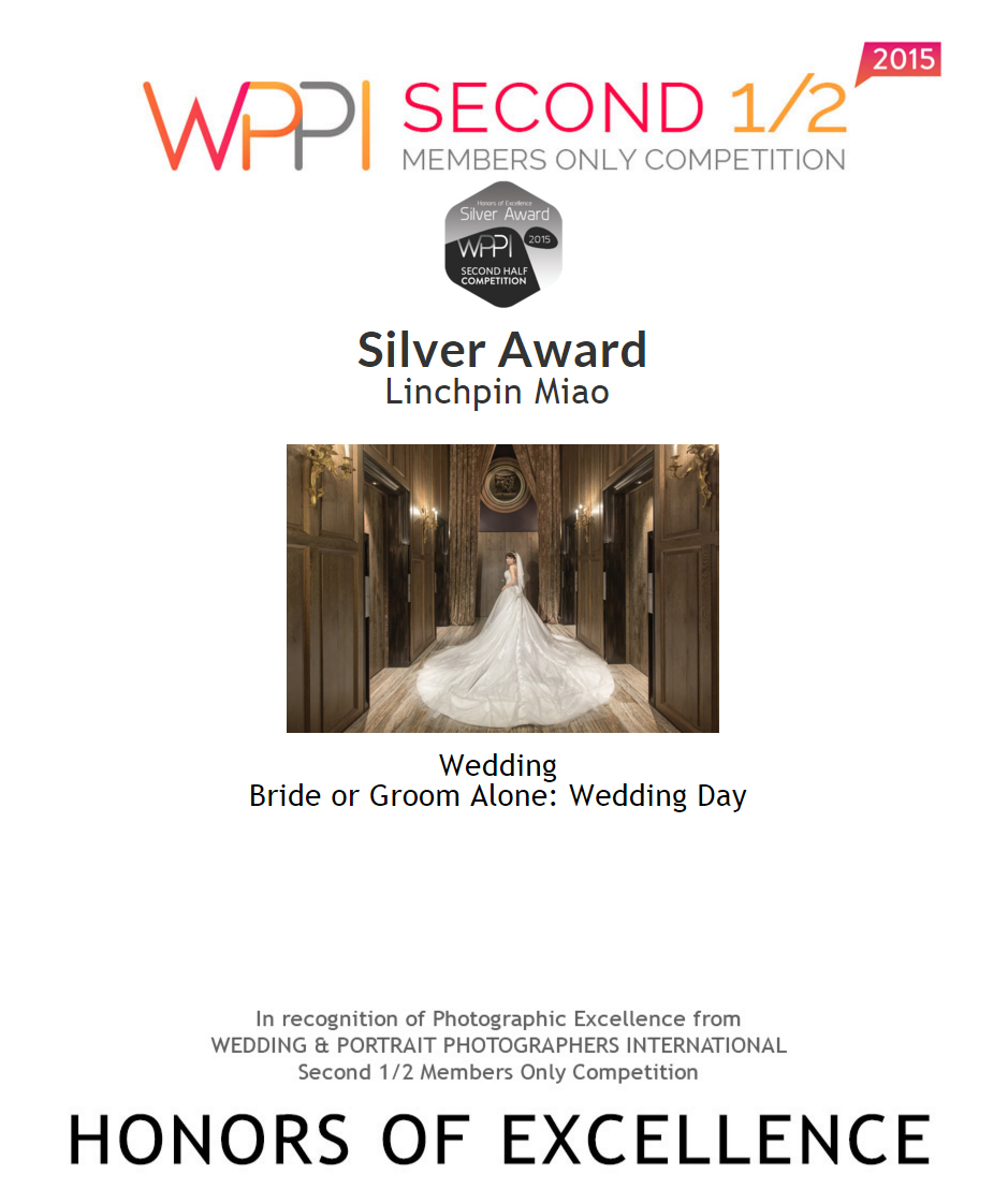 WPPI SECOND 1/2, 2015 : Bride or Groom Alone: Wedding Day