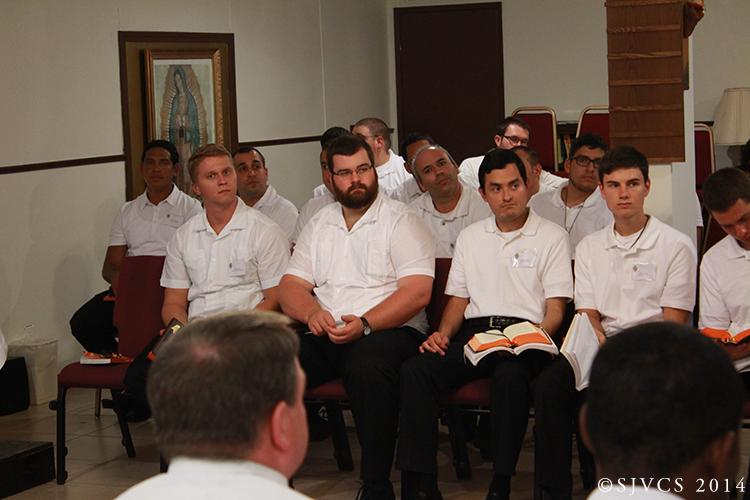 Seminarians listen to Fr.Jesús