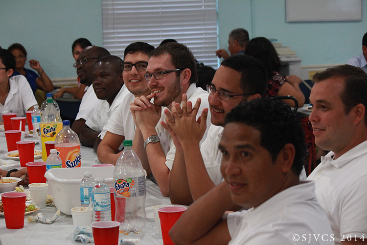 A group of seminarians enjoys the entertainment