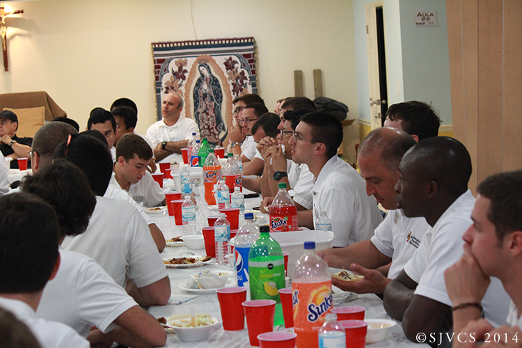 The people of St. Anne's Mission served the seminarians with a wonderful meal