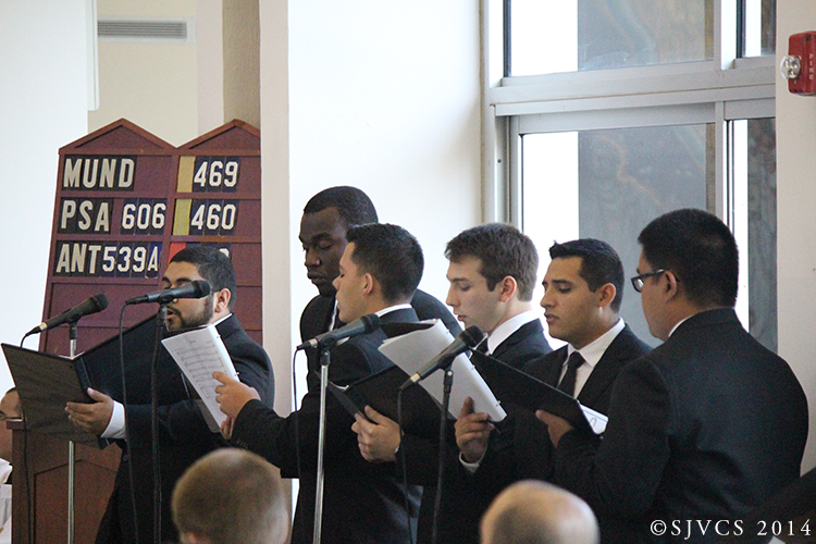 The Student Schola Chorus sings for the Mass