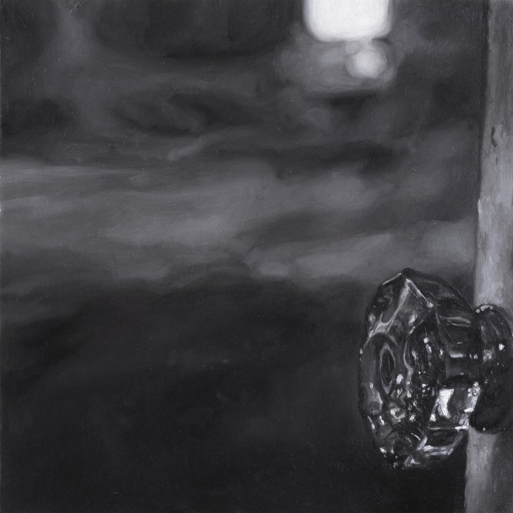 "Untitled (Passage: Twenty-Six) , 2012 Oil on panel 8.5"" sq.   private collection, Brookline, MA"