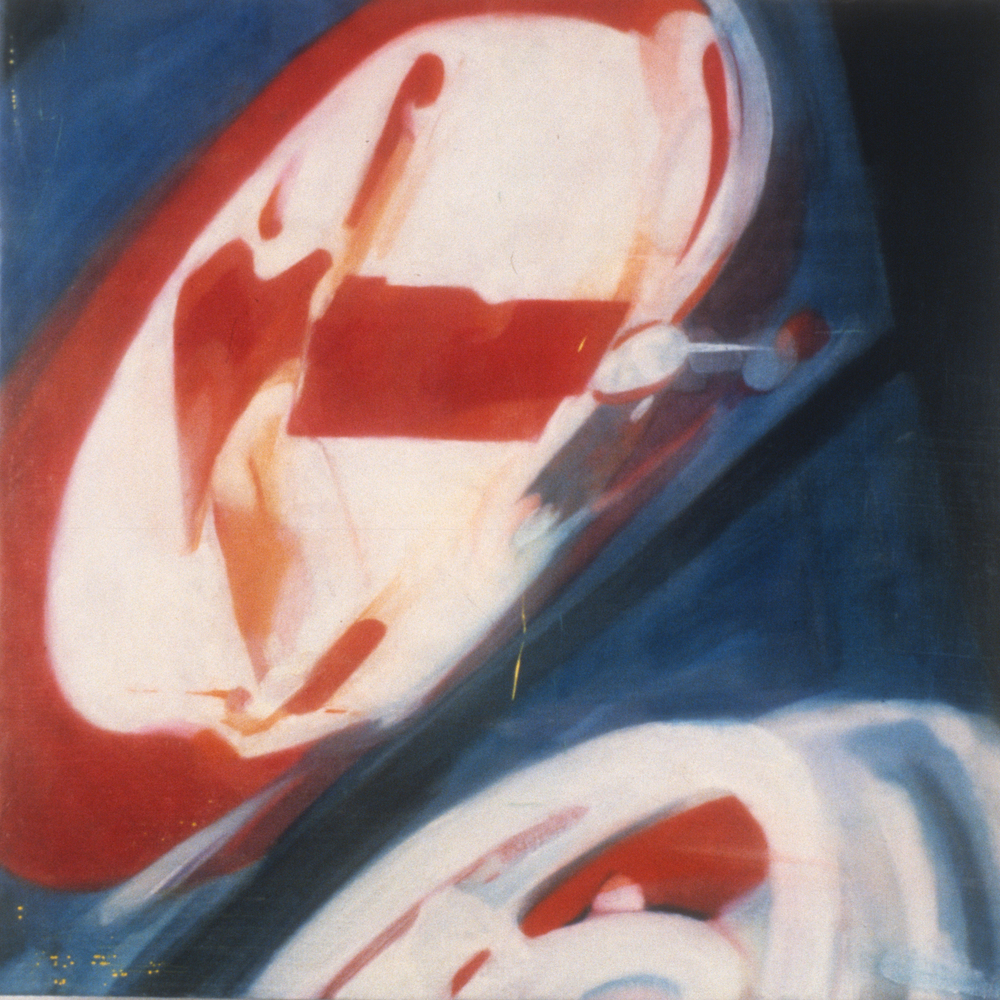 "Roadtrip (Kemmons Wilson's Dream: Tennessee) , 1996 Encaustic on panel 12"" sq.   private collection, Memphis, TN"