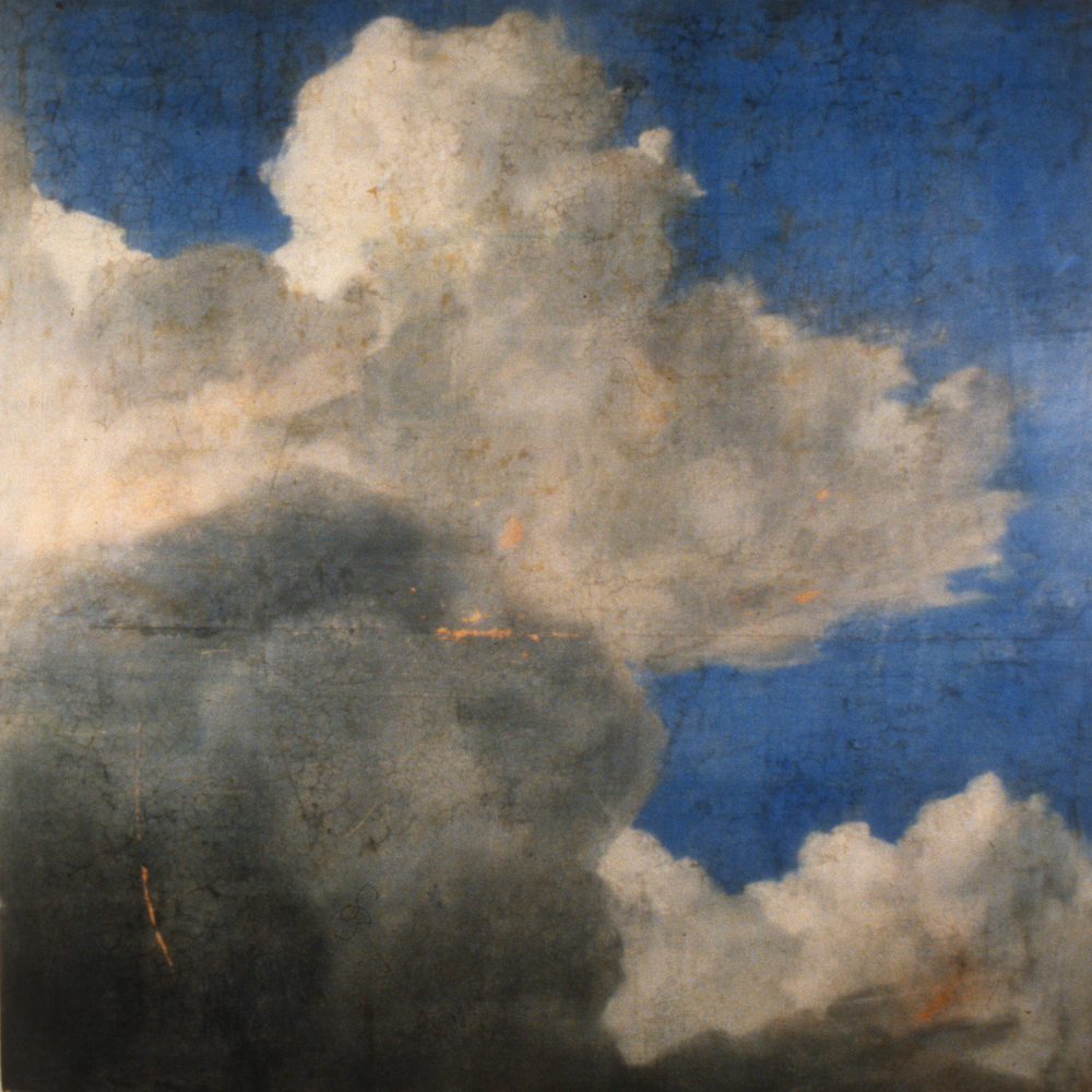 "Nobilis Sublimis III (Thank you K. DuJardin) , 1995 Encaustic on panel 48"" sq.   private collection, Memphis, TN"