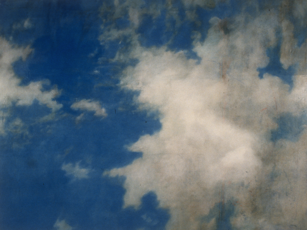 "Nobilis Sublimis I (Thank you J. Constable) , 1994 Encaustic on panel 72"" x 84""   private collection, Birmingham, MI"
