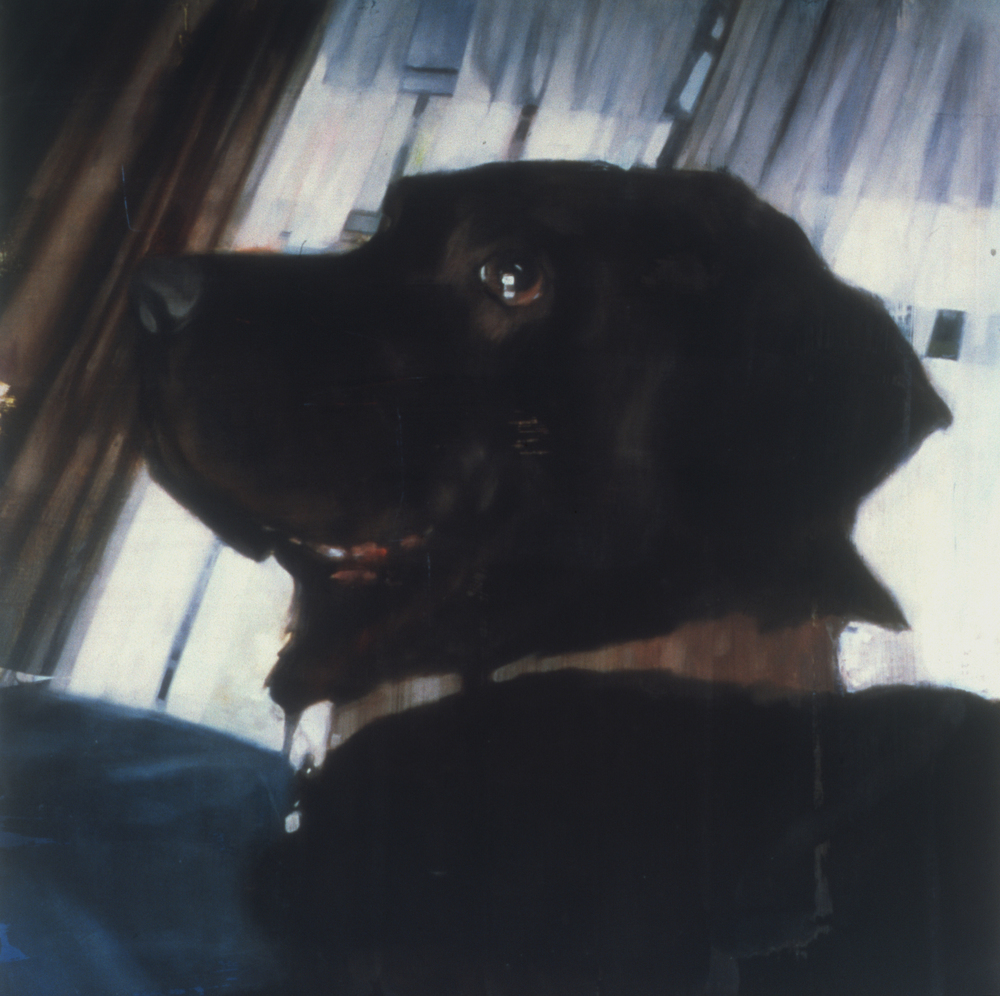 "Untitled (Linville),  1999 Encaustic on panel 48"" sq.   private collection, Memphis, TN"