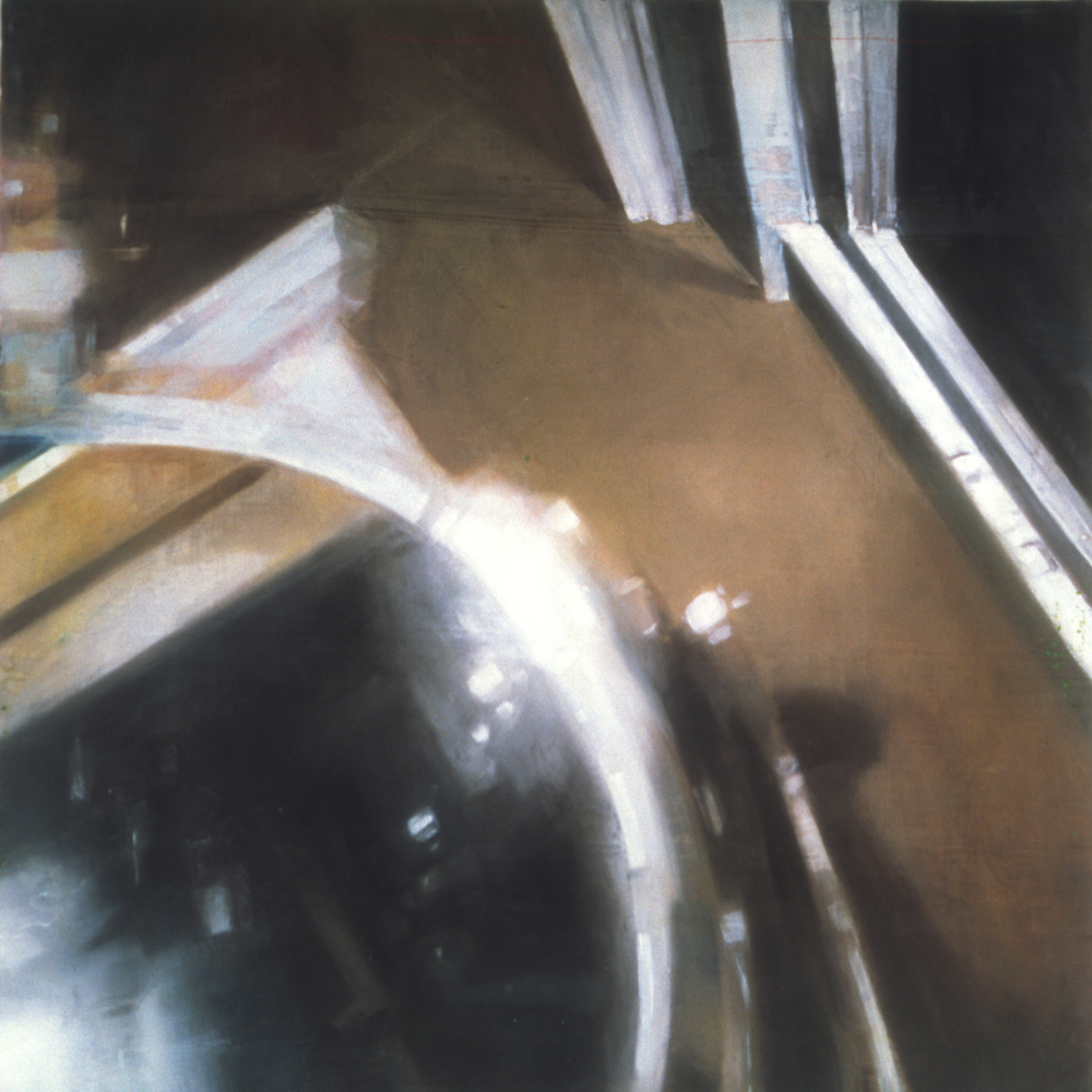"Untitled (Forgetting),  1998 Encaustic on panel 12"" sq.   private collection, Memphis, TN"