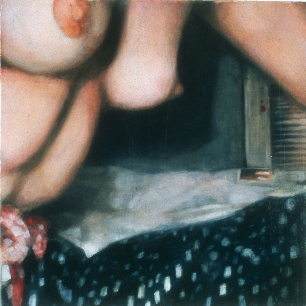 "Untitled (Document) , 2001 Encaustic on panel 8.5"" sq."