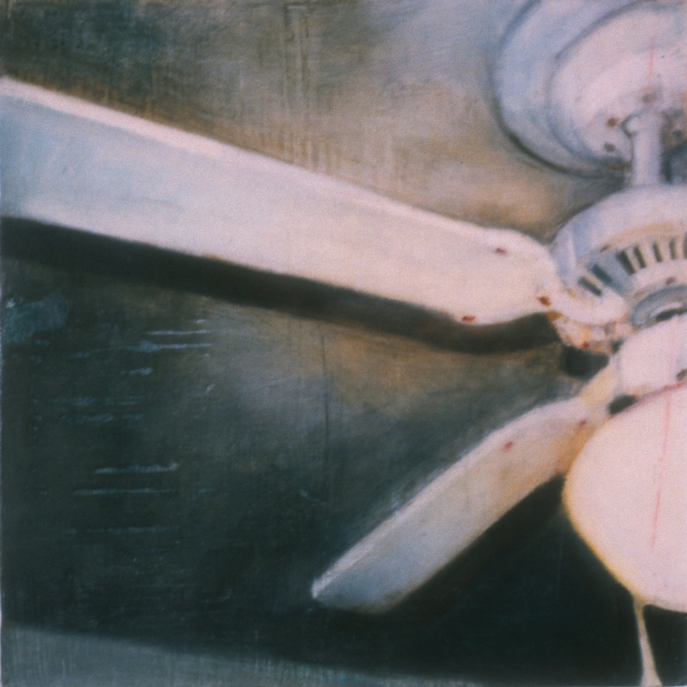 "Untitled (11:30pm) , 2001 Encaustic on panel 8.5"" sq.   private collection, Austin, TX"