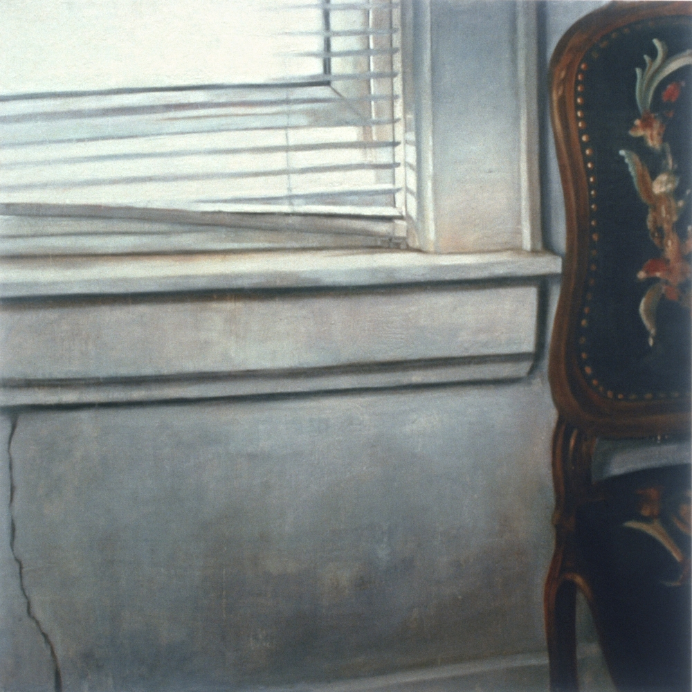"Untitled (Stare),  2002 Encaustic on panel 72"" sq."