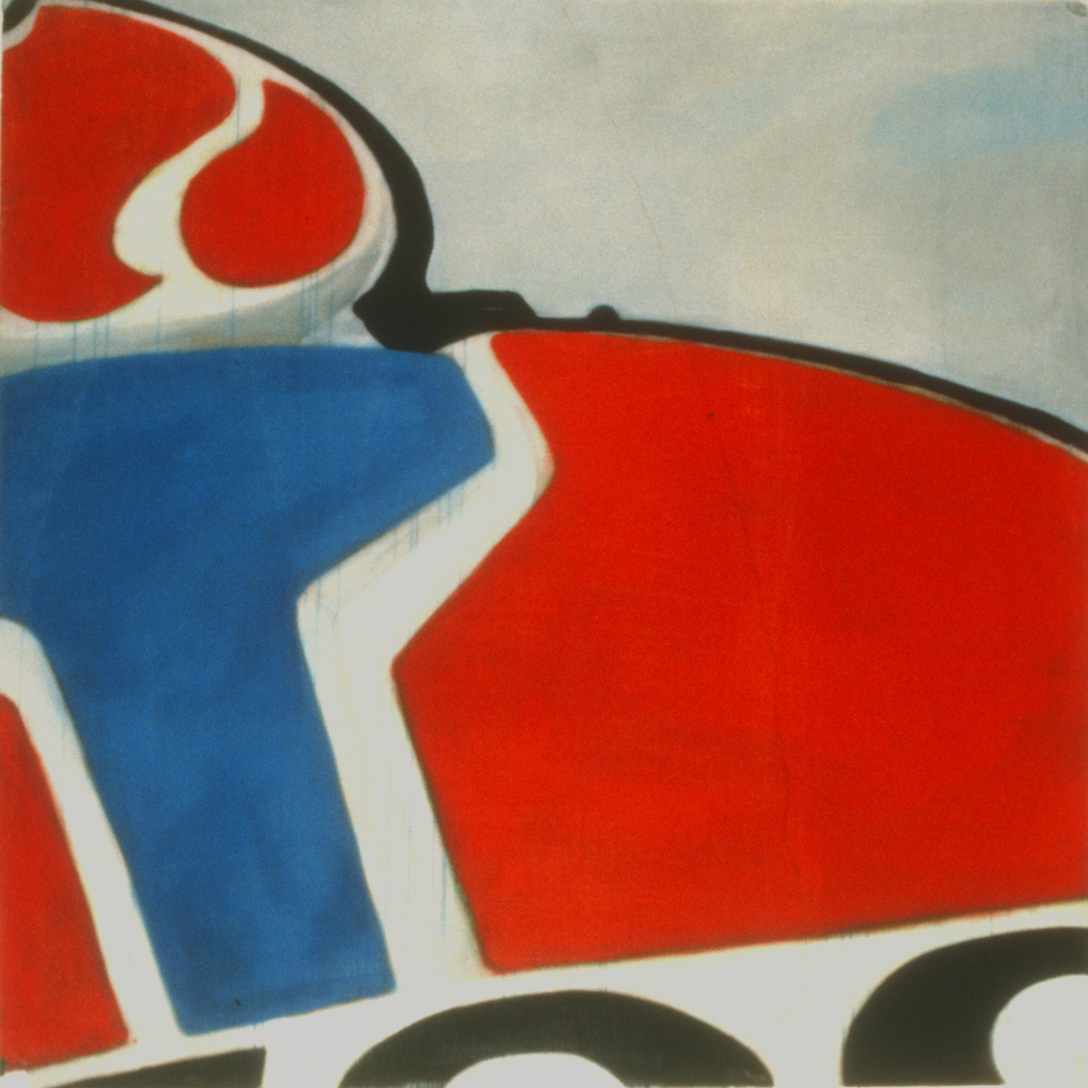 "Roadtrip (Kemmons Wilson's Dream, 8) , 1996 Encaustic on panel 12"" sq.   private collection"