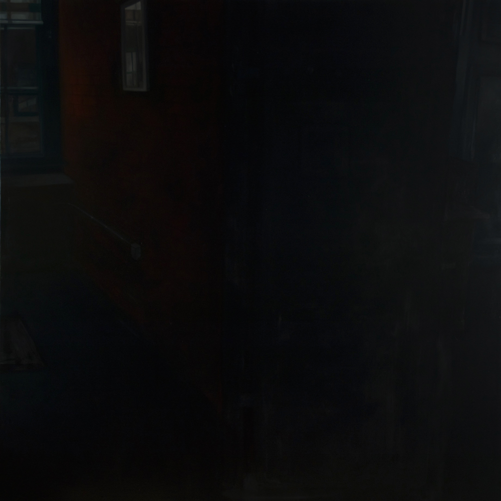 "Untitled (Black Interior) , 2015 Oil on canvas 60"" sq."