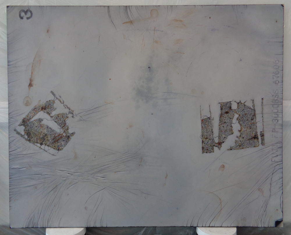 Work In-Progress, (Back) right panel of diptych