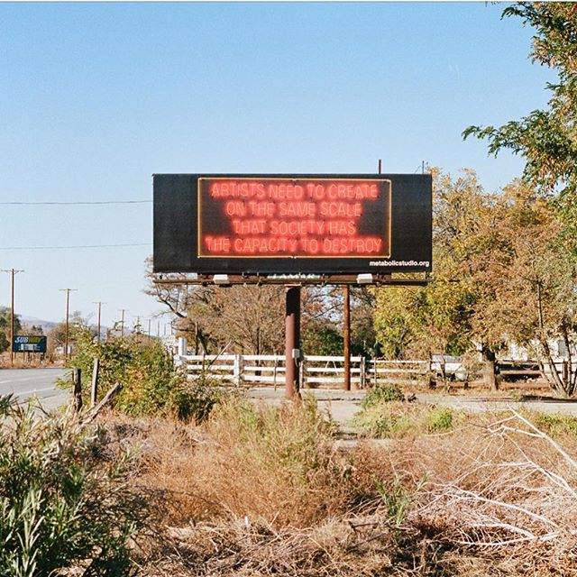 Artists need to create on the same scale that society has the capacity to destroy #35mm #film #roadtrip