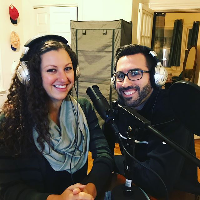 We had an amazing evening with these two amazing humans! We were honored to be apart of Sal and Katie's  wedding last year and we are once again honored to have these two as our first guest on The Cocktail Hour podcast! We discussed wedding planning, managing stress, music and so much more. We can't wait to share their story with you soon. #TheCocktailHour #podcast @april.jeanius