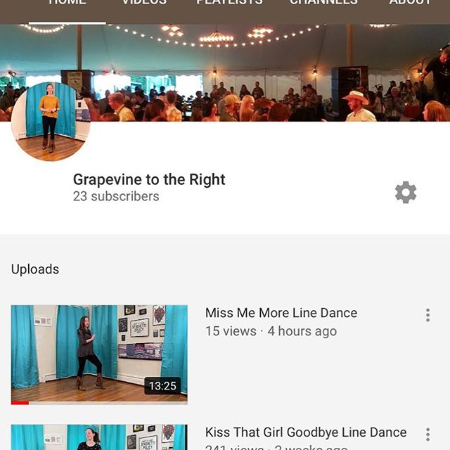 "New dance up!  This one's to ""Miss Me More"" by Kelsea Ballerini.  And don't forget to check out the newly launched www.grapevinetotheright.com too!"