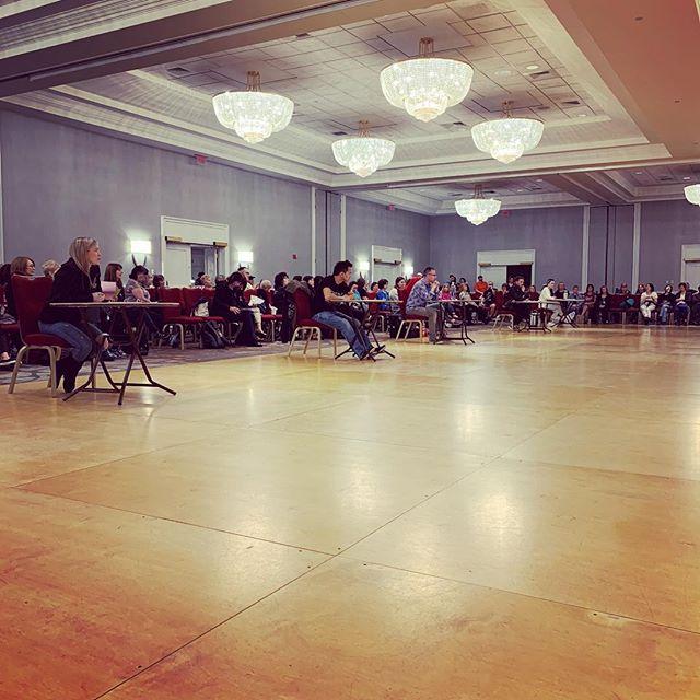 Choreography competition underway.  Regretting not entering anything.  Next year !!! #linedanceshowdown
