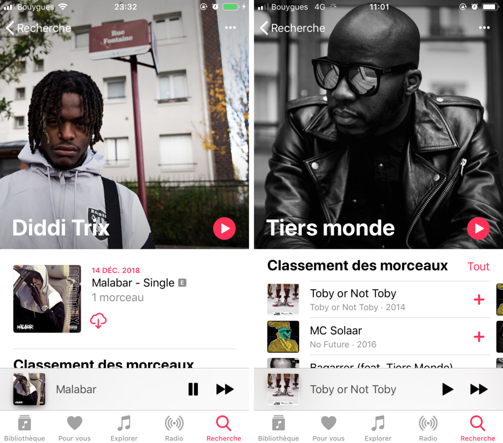Diddi Trix and Tiers Monde artist's page's pictures on Apple Music.