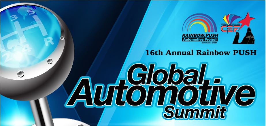 """Realignment of the Automotive Value Chain""                                                       Friday, October 9, 2015                                     MGM Grand Detroit                                                                         Meeting & Events Center                                  1777 W. Third Street                                                                               Detroit, Michigan                                                Rainbow PUSH Automotive Project"