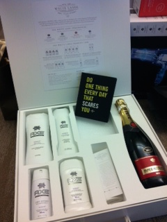 """Axe promotional gift to the publisher of a fitness magazine featuring """"Do One Thing Every Day That Scares You"""""""