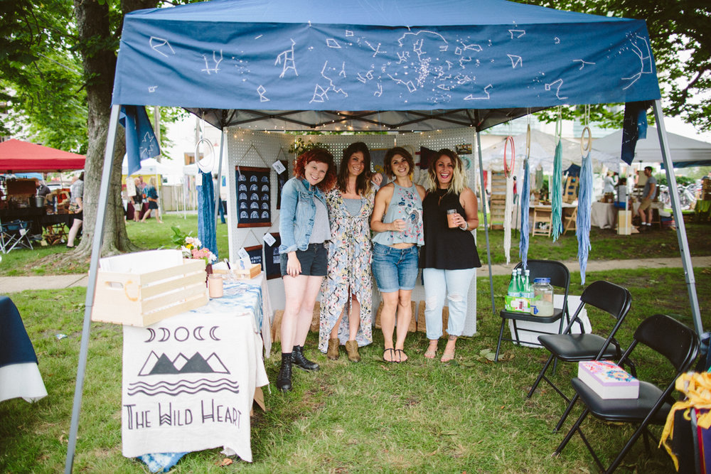 The Wild Heart Collective - Co-founder of The Wild Heart, a maker based creative collective. Curated and contributed to pop-up shops highlighting locally made fiber art, illustrations, leather work, and more!