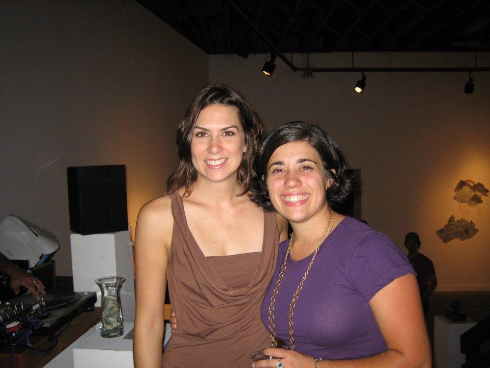 Lesli Robertson and Natalie Macellaio at 500X Gallery