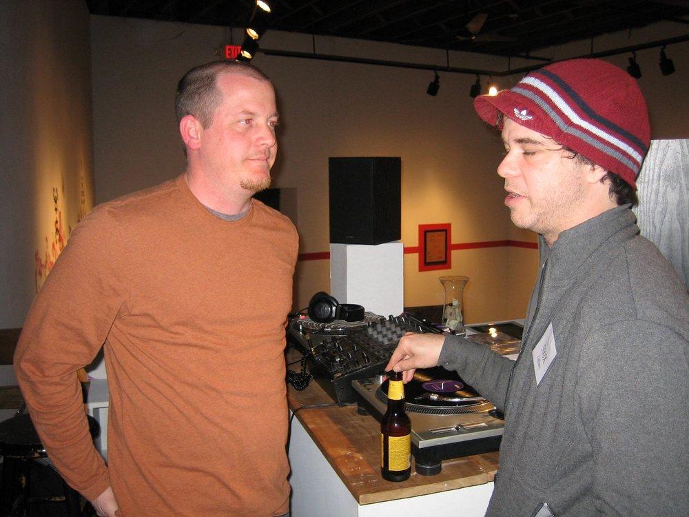 DJ and Jim Burton at 500X Gallery