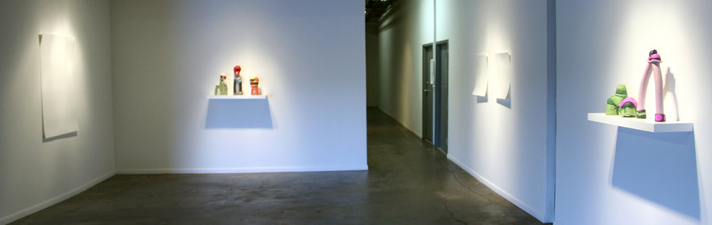 """Installation Image of """"Sweet Tart"""" exhibition by Jessica McCambly and John Oliver Lewis."""