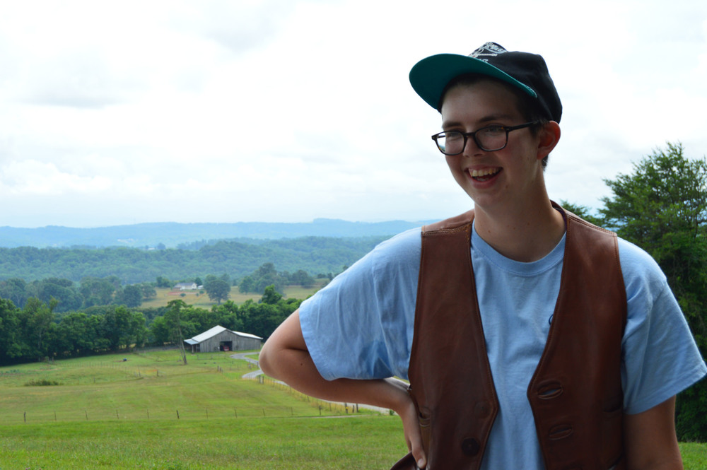 Kendall, a member of the Stay together appalachian youth project.