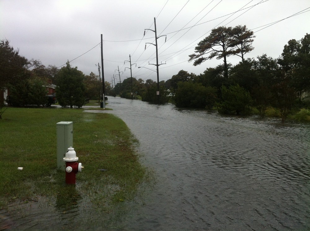 Flooding in Virginia Beach during Hurricane Joaquin in October 2015. Photo by Michael Schulson.