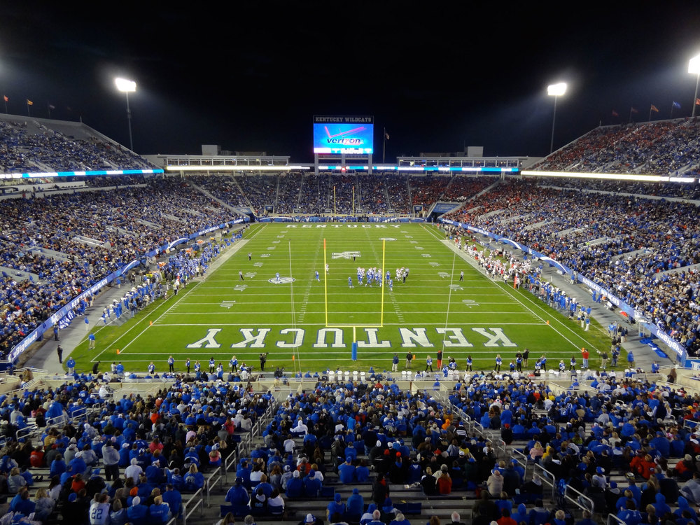 University of Kentucky's football stadium. Photo courtesy Navin75.