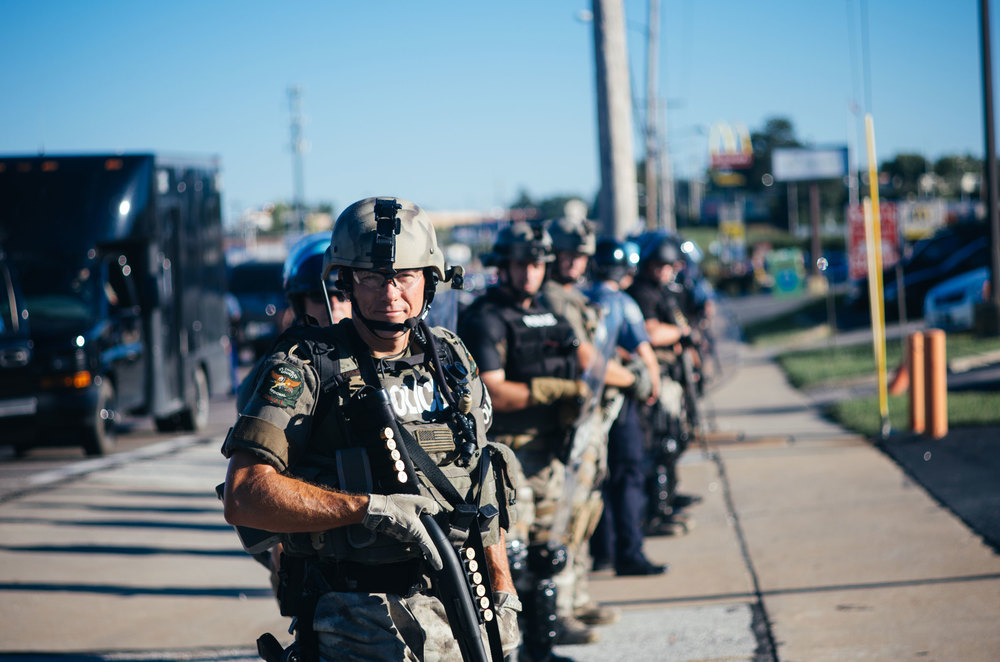 Police in Ferguson, MO. Photo by Jamelle Bouie.
