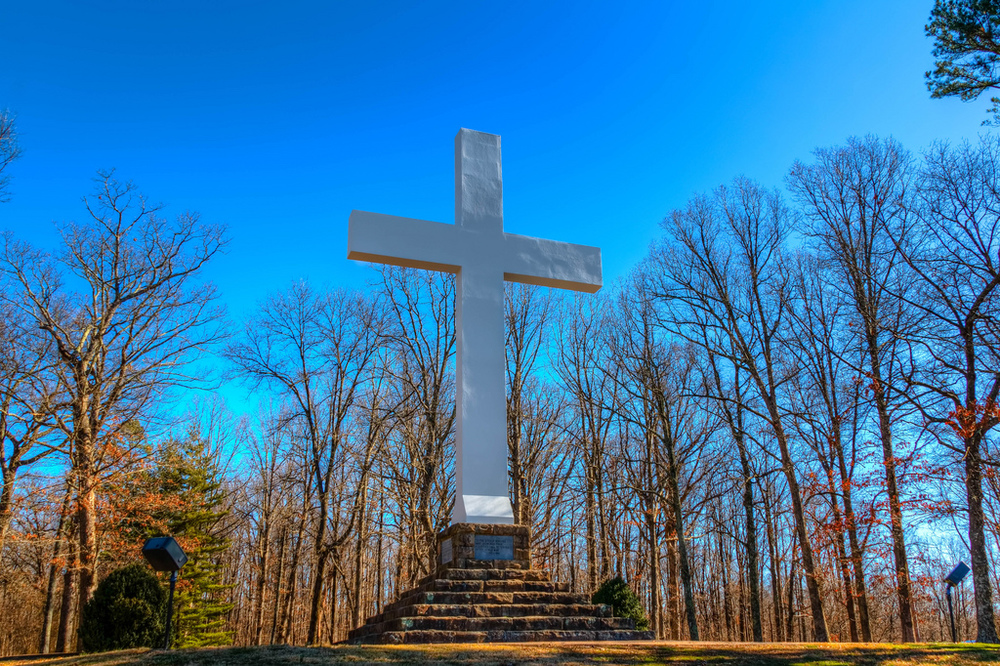 Memorial Cross at the University of the South. Photo by Michael Hicks.