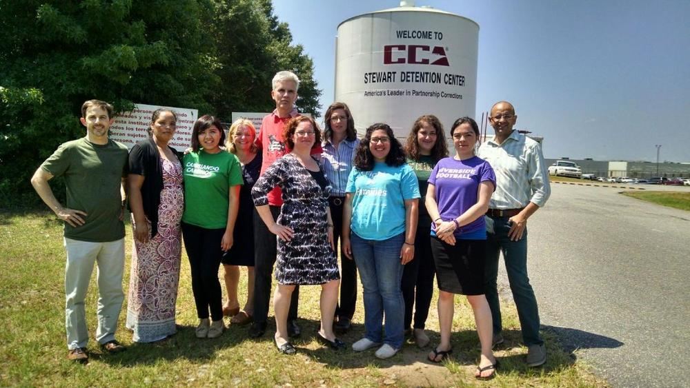 A delegation from North Carolina traveled hundreds of miles to support Yefri Sorto-Hernandez and other undocumented youth incarcerated at Stewart Detention Center